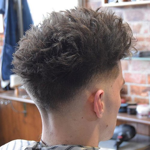 Messy Top and Low Razor Fade