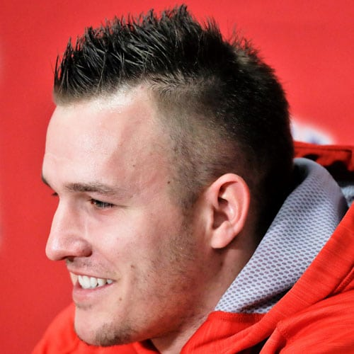 Mike Trout - Spiky Hair with High Fade
