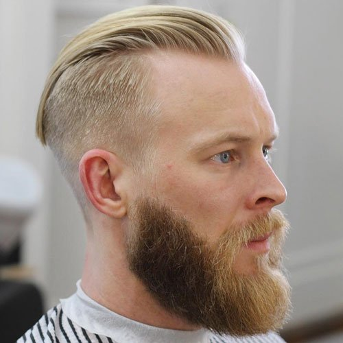 Slick Back Undercut with Long Beard