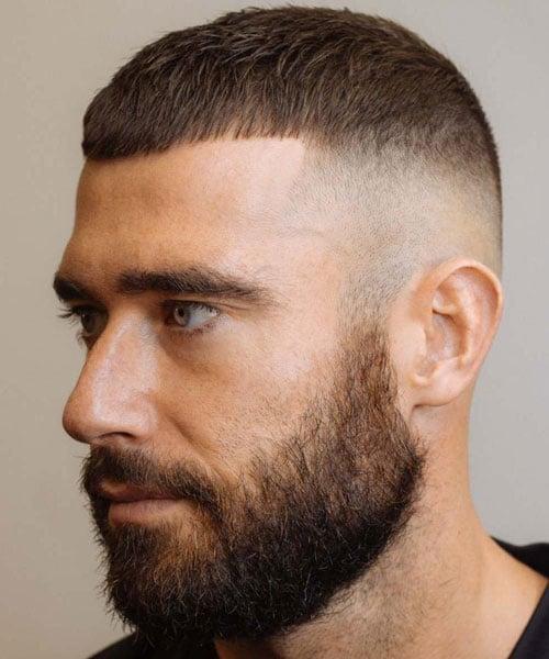 Very Short Mushroom Cut + High Bald Fade