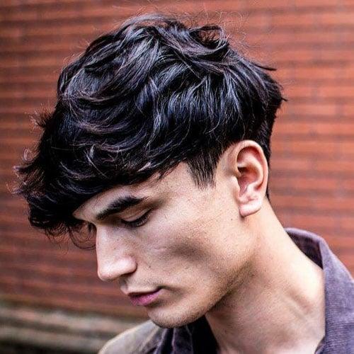 Wavy Hair + Classic Taper Mushroom