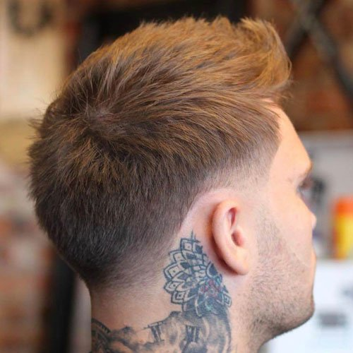 Classic Taper + Textured Hair on Top