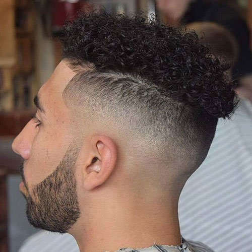 Disconnected Undercut Fade + Curly Hair