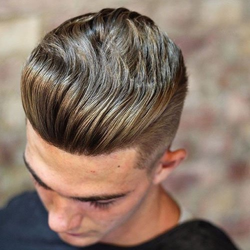 Fade + Thick Textured Slick Back