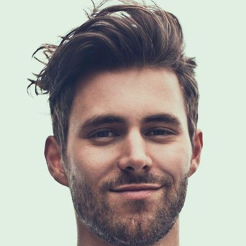 Flowing Medium Length Hair + Short Sides + Beard