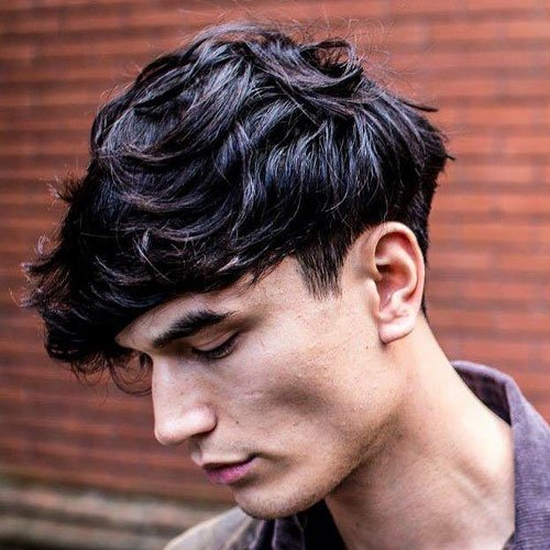 Long Front, Short Back and Sides Hairstyle - Short Low Taper Fade + Long Fringe