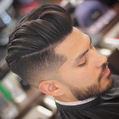 Long Hair Fade - High Undercut Fade + Thick Textured Modern Quiff Hairstyle