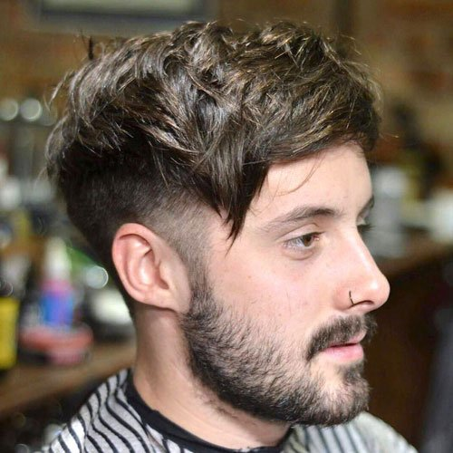 Short Sides Long Top - Taper Fade + Thick Textured Comb Over
