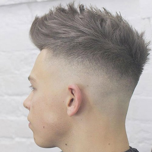 Skin Fade + Textured Hair on Top