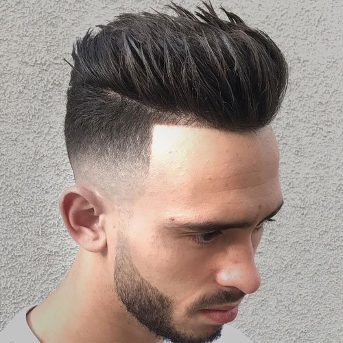 Spiky Pomp + Skin Fade + Line Up