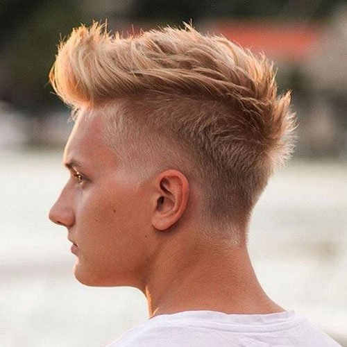 Taper Fade Mohawk + Textured Top