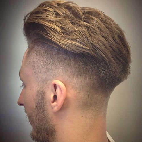 Thick Brush Back + Undercut Fade