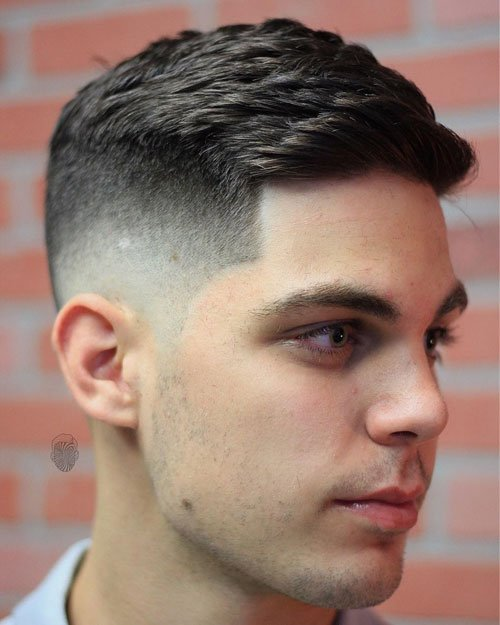 Thick Crew Cut + Fresh Fade
