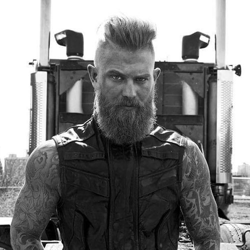 Undercut + Long Beard