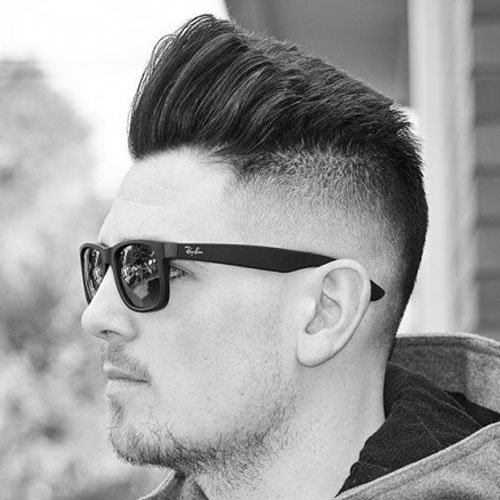 Big Pomp + Undercut Fade