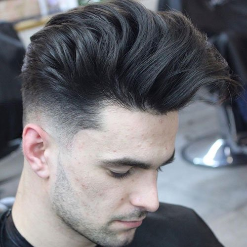 Long Hair Pompadour