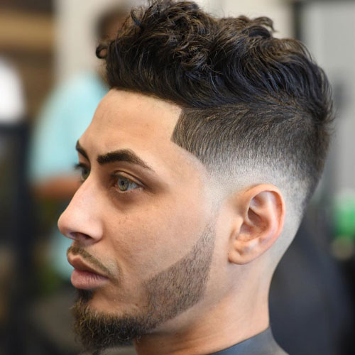 Low Bald Fade + Shape Up + Wavy Hair