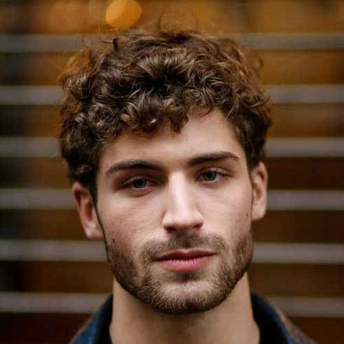 Messy Medium Curly Hair + Thick Beard