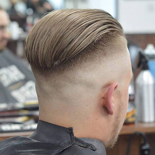 Slicked Back Undercut + Shaved Sides