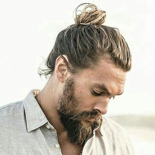 Thick Man Bun + Long Beard