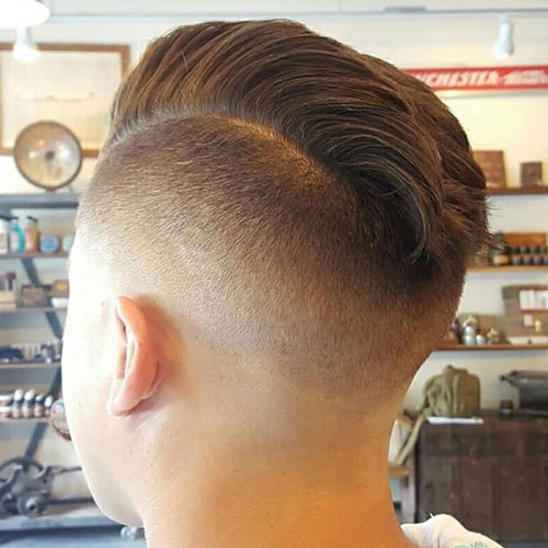 Undercut Fade + Short Textured Faux Hawk