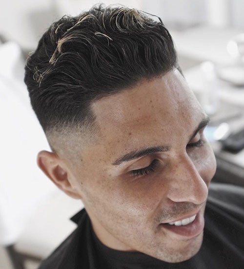 Wavy Pomp + Mid Fade + Line Up