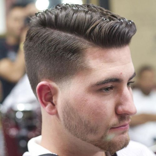Comb Over + Tapered Sides