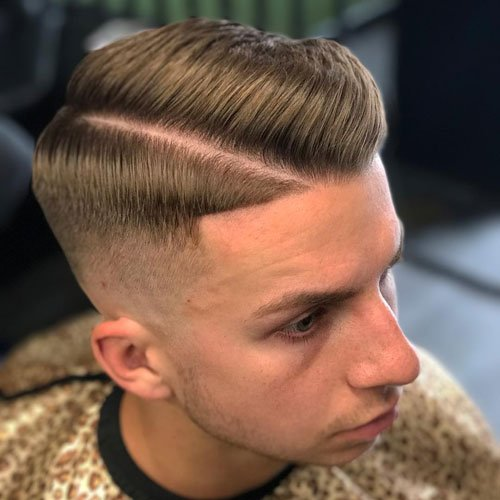 Hard Side Part + High Fade