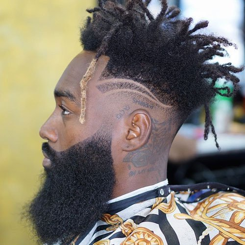 High Top Dreads Long Beard