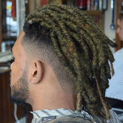 Long Dreadlocks + Undercut Fade