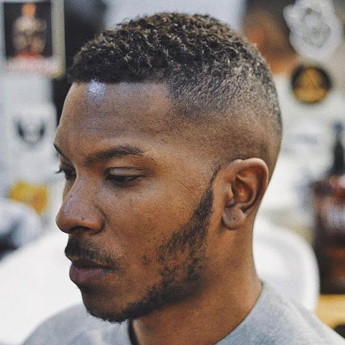 Skin Fade + Short Curly Hair on Top