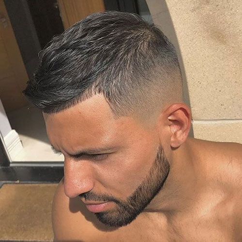 Textured Crop + Fade + Cool Beard
