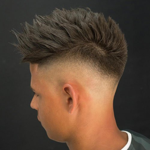 Textured Spiky Hair + High Bald Fade
