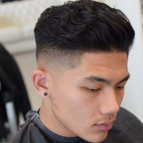 Thick Wavy Hair on Top + Short Sides