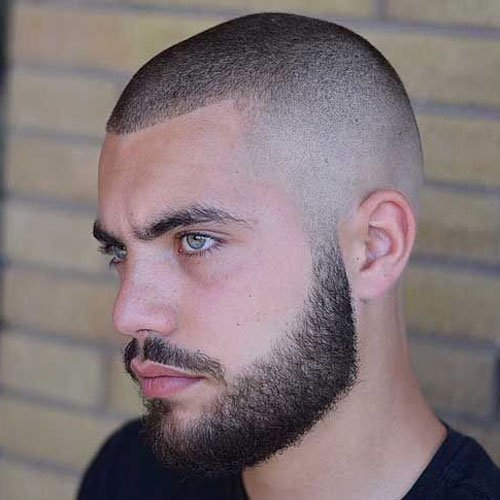 Buzz Cut Haircut For Receding Hair