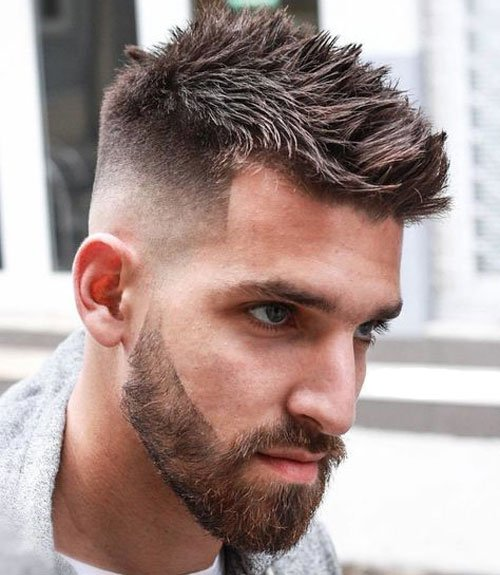 Modern Spiky Hair + Skin Fade + Beard