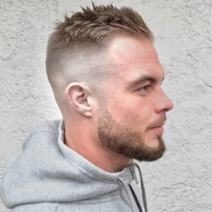 Short Hair For Receding Hairline - High SKin Fade with Short Crew Cut on Top