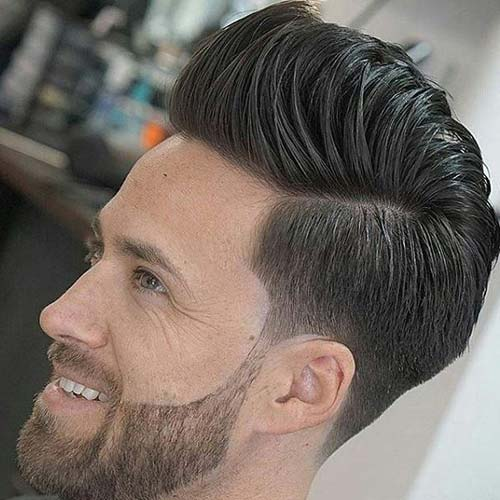 Short Sides + Long Top + Beard Design