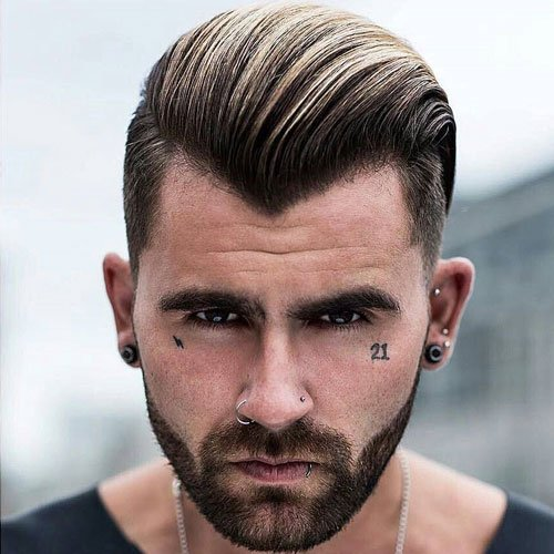Slicked Back Hairstyles For Receding Hairline