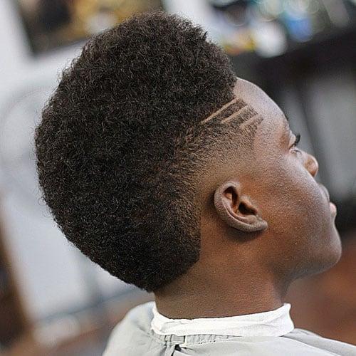 High Drop Fade Afro