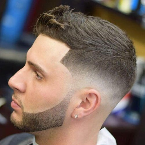 Stubble Beard Design + Low Skin Fade + Line Up