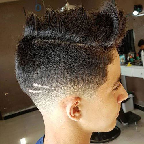 Faux Hawk + Undercut Fade
