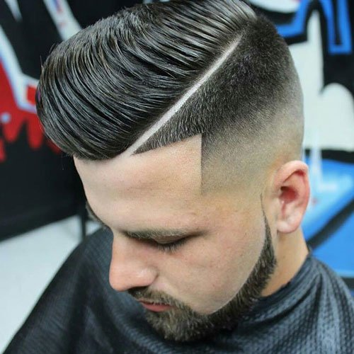 Hard Side Part + High Skin Fade + Line Up