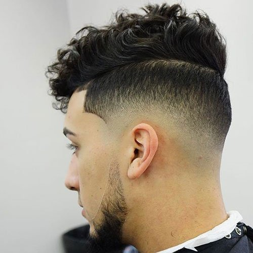 Skin Fade + Line Up + Thick Wavy Hair on Top