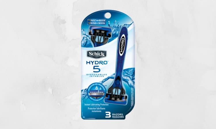 Best Razors For Men   Schick Hydro 5 Disposable Razor
