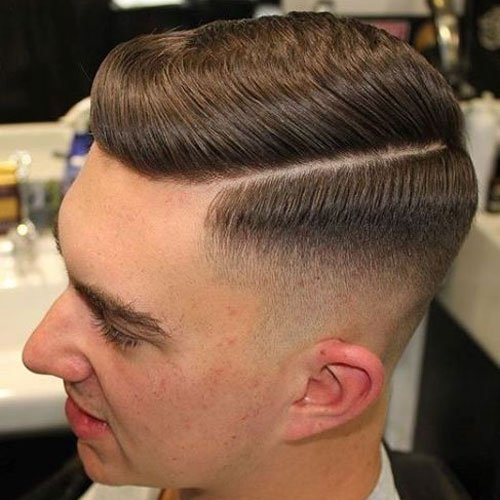 Fade Haircut - Comb Over Fade with Part