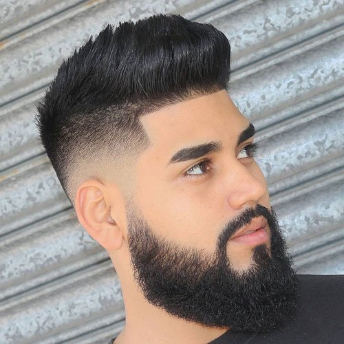 Low Bald Fade with Shape Up and Textured Spiky Hair