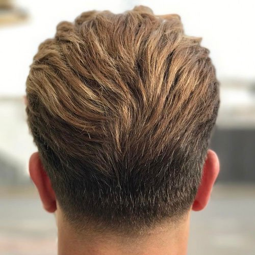 Taper Haircut + Long Textured Slick Back