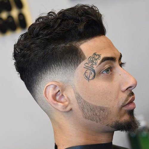 Thick Curly Hair on Top + Low Bald Fade + Shape Up