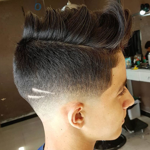 Undercut Fade + Faux Hawk